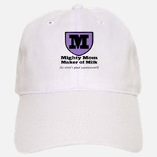 Mighty Mom Baseball Baseball Cap