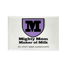 Mighty Mom Rectangle Magnet