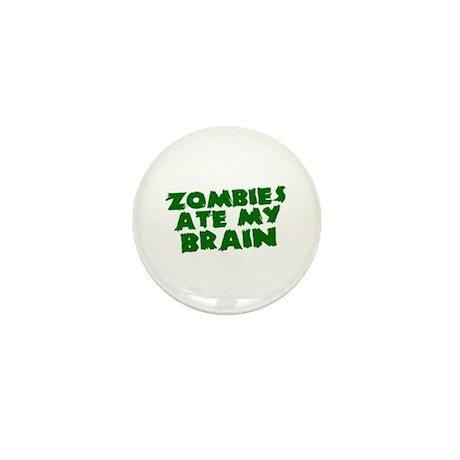 Zombies Ate My Brain Mini Button