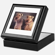 Cute Airedale terrier Keepsake Box