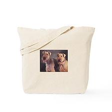 Unique Airedales Tote Bag