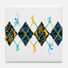 Argyle Tribal Tile Coaster