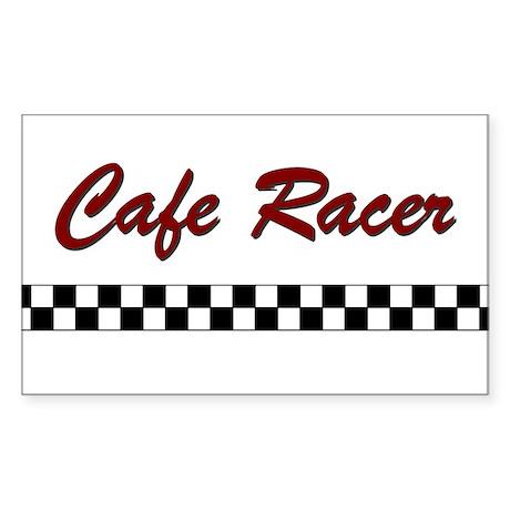Cafe Racer Rectangle Sticker 10 pk)