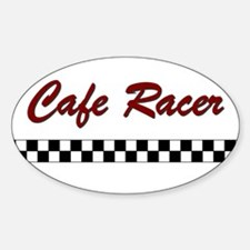 Cafe Racer Oval Decal