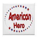 American Hero Tile Coaster