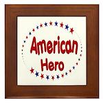 American Hero Framed Tile