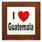 I Love Guatemala Framed Tile