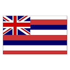 Hawaii Flag Rectangle Decal