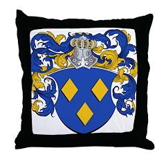 Schryver Family Crest Throw Pillow