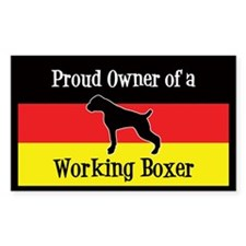 Working Boxer Decal