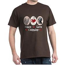 Peace Love Chivalry Renaissance T-Shirt