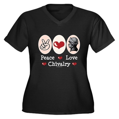 Peace Love Chivalry Renaissance Women's Plus Size