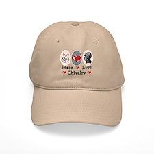 Peace Love Chivalry Renaissance Baseball Cap