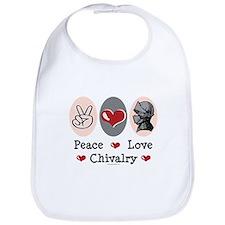 Peace Love Chivalry Renaissance Bib