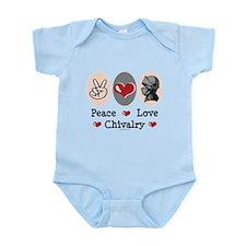 Peace Love Chivalry Renaissance Infant Bodysuit