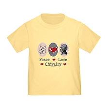 Peace Love Chivalry Renaissance Toddler Tee