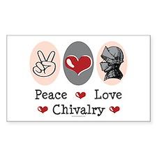 Peace Love Chivalry Renaissance Decal