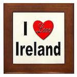 I Love Ireland Framed Tile