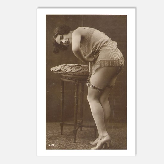 Vintage Stockings Model Postcards (Package of 8)