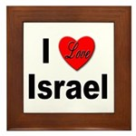 I Love Israel Framed Tile