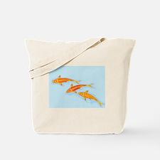 Koi Tote on Blue Tote Bag