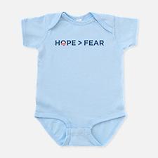 hope > fear barack obama 2008 Infant Bodysuit