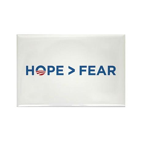 hope > fear barack obama 2008 Rectangle Magnet