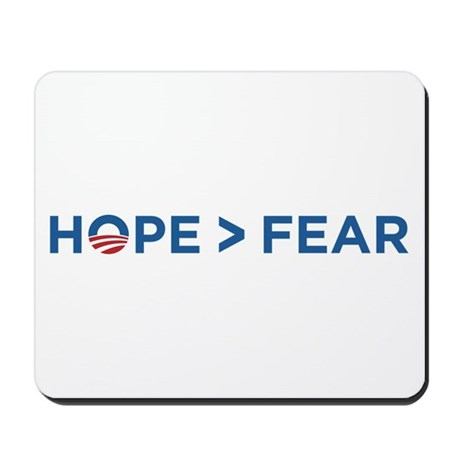 hope > fear barack obama 2008 Mousepad