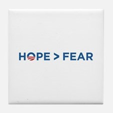 hope > fear barack obama 2008 Tile Coaster