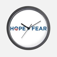 hope > fear barack obama 2008 Wall Clock