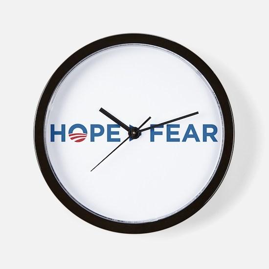 hope > fear barack obama 2008 Wall Clock