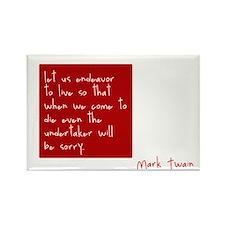 Mark Twain Birthday Quote Rectangle Magnet