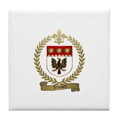 JOHNSON Family Crest Tile Coaster