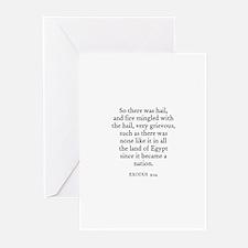 EXODUS  9:24 Greeting Cards (Pk of 10)