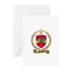 GARCEAU Family Crest Greeting Cards (Pk of 10)