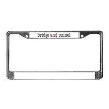 bridge and tunnel License Plate Frame