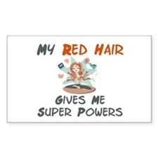 Red hair gives super powers! Rectangle Decal