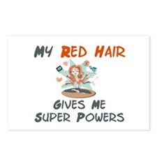 Red hair gives super powers! Postcards (Package of