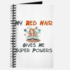 Red hair gives super powers! Journal