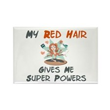 Red hair gives super powers! Rectangle Magnet