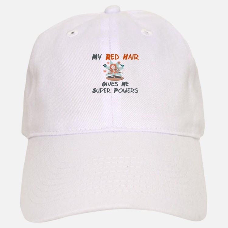Red hair gives super powers! Baseball Baseball Cap