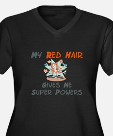 Red hair gives super powers! Women's Plus Size V-N