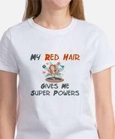 Red hair gives super powers! Tee