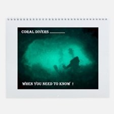 Cute Scuba diving Wall Calendar