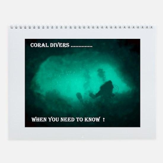 Unique Dive Wall Calendar