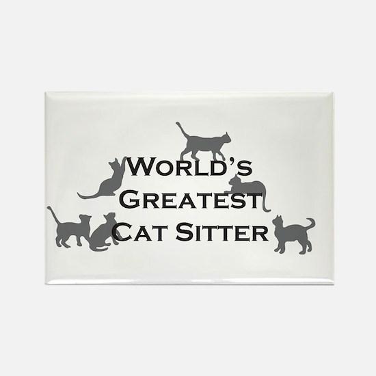 World's Greatest Cat Sitter Rectangle Magnet