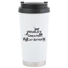 World's Greatest Cat Sitter Thermos Mug