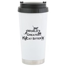 World's Greatest Cat Sitter Travel Mug