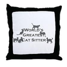 World's Greatest Cat Sitter Throw Pillow