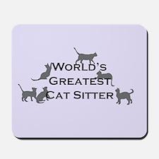 World's Greatest Cat Sitter Mousepad